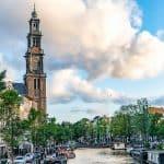 amsterdam canal westerkerk