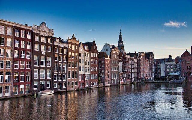 amsterdam netherlands blue sky