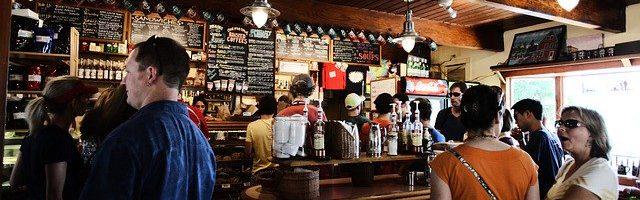 bar pub restaurant drink people
