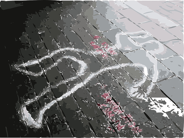 crime scene dead marks person body